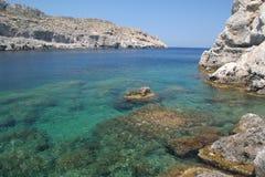 Het strand van Rhodos royalty-vrije stock afbeelding