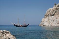 Het strand van Rhodos Stock Afbeelding