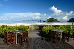 Het Strand van Rhu van Tanjung, Langkawi in Maleisië royalty-vrije stock afbeeldingen