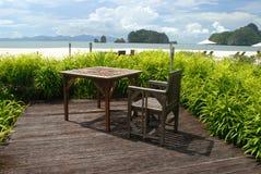 Het Strand van Rhu van Tanjung, Langkawi in Maleisië Royalty-vrije Stock Foto's