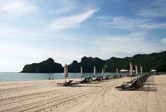 Het Strand van Rhu van Tanjung op eiland Langkawi Royalty-vrije Stock Fotografie
