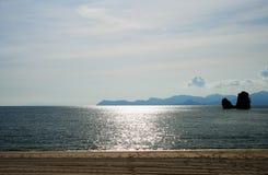 Het Strand van Rhu van Tanjung op eiland Langkawi Stock Afbeelding