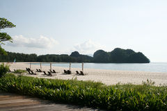 Het Strand van Rhu van Tanjung op eiland Langkawi Stock Fotografie