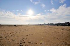 Het strand van Rimini Stock Foto's