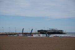 Het strand van rimini op een regenachtige dag Royalty-vrije Stock Foto
