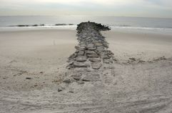 Het strand van Rockaway Stock Foto