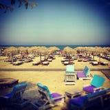 Het strand van Roemenië van Mamaiaconstanta Royalty-vrije Stock Foto's