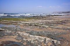 Het strand van rotsen Royalty-vrije Stock Foto's