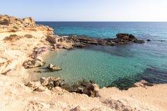 Het strand van S Calo des Mort, Formentera, Spanje Royalty-vrije Stock Foto