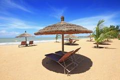 Het strand van Saly in Senegal Stock Foto's