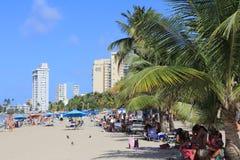 HET STRAND VAN SAN JUAN PUERTO RICO Stock Afbeelding