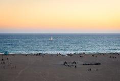 Het strand van santamonica stock afbeelding