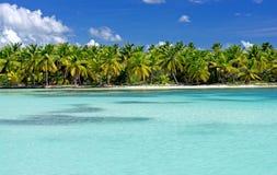 Het strand van Saona Stock Foto