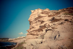 Het strand van Sardinige Lubagnu Stock Foto