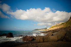 Het strand van Sardinige Lubagnu Stock Afbeeldingen