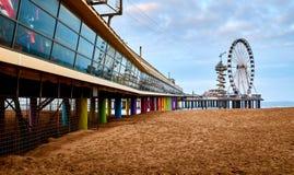 Het Strand van Scheveningen, Den Haag, Nederland stock afbeeldingen