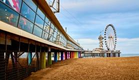 Het Strand van Scheveningen, Den Haag, Nederland stock foto's