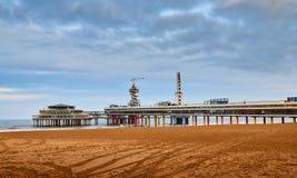 Het Strand van Scheveningen, Den Haag, Nederland royalty-vrije stock foto's