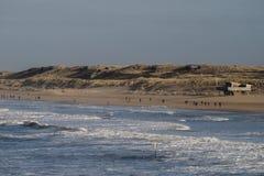 Het strand van Scheveningen in Nederland Stock Afbeelding