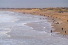 Het strand van Scheveningen in Nederland Stock Fotografie