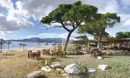 Het strand van Schoinias royalty-vrije stock afbeelding