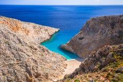 Het strand van Seitanlimania op Kreta Royalty-vrije Stock Afbeelding