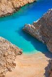 Het strand van Seitanlimania op Kreta Royalty-vrije Stock Afbeeldingen