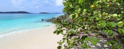 Het Strand van Solomon op Heilige John stock foto