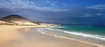 Het Strand van Sotavento in Fuerteventura stock foto's