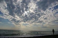 Het strand van Sotchi Riviera Stock Afbeeldingen