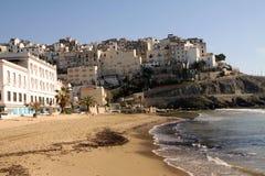 Het strand van Sperlonga in Italië stock afbeelding
