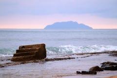 Het Strand van stappen - Puerto Rico stock fotografie