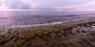Het Strand van stappen - Puerto Rico stock foto