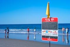 Het strand van het surfersparadijs Royalty-vrije Stock Fotografie