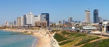 Het strand van Tel Aviv Stock Foto