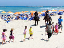 Het strand 2012 van Tel Aviv Royalty-vrije Stock Foto