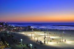 Het Strand van Tel Aviv, Israël Stock Foto's