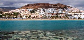 Het strand van Tenerife Stock Foto