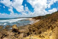 Het strand van Torquay - Australië stock afbeeldingen