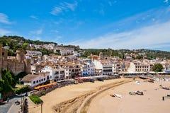 Het strand van Tossa de Mar, Costa Brava Royalty-vrije Stock Afbeelding