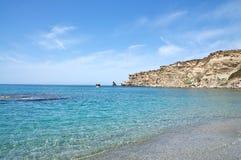 Het strand van Triopetra, Kreta Royalty-vrije Stock Afbeeldingen