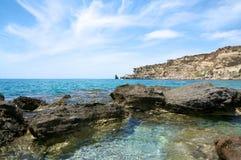 Het strand van Triopetra, Kreta Stock Fotografie
