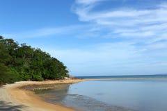 Het strand van Tropica Royalty-vrije Stock Fotografie
