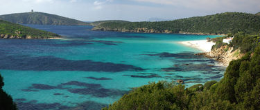 Het Strand van Tuerredda - Sardinige - Italië Stock Foto