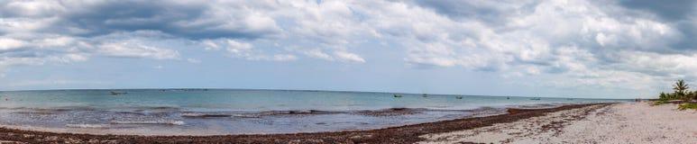 Het Strand van Tulum, Mexico Stock Foto
