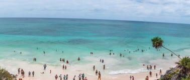 Het Strand van Tulum, Mexico Stock Afbeelding