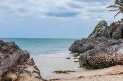 Het Strand van Tulum, Mexico Royalty-vrije Stock Foto