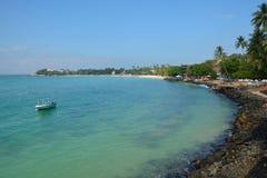 Het strand van Unawatuna Stock Foto's