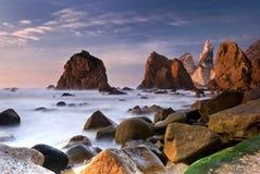 Het strand van Ursa, Portugal Stock Foto's