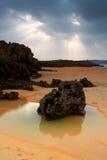 Het Strand van Valdearenas. Spanje stock afbeelding